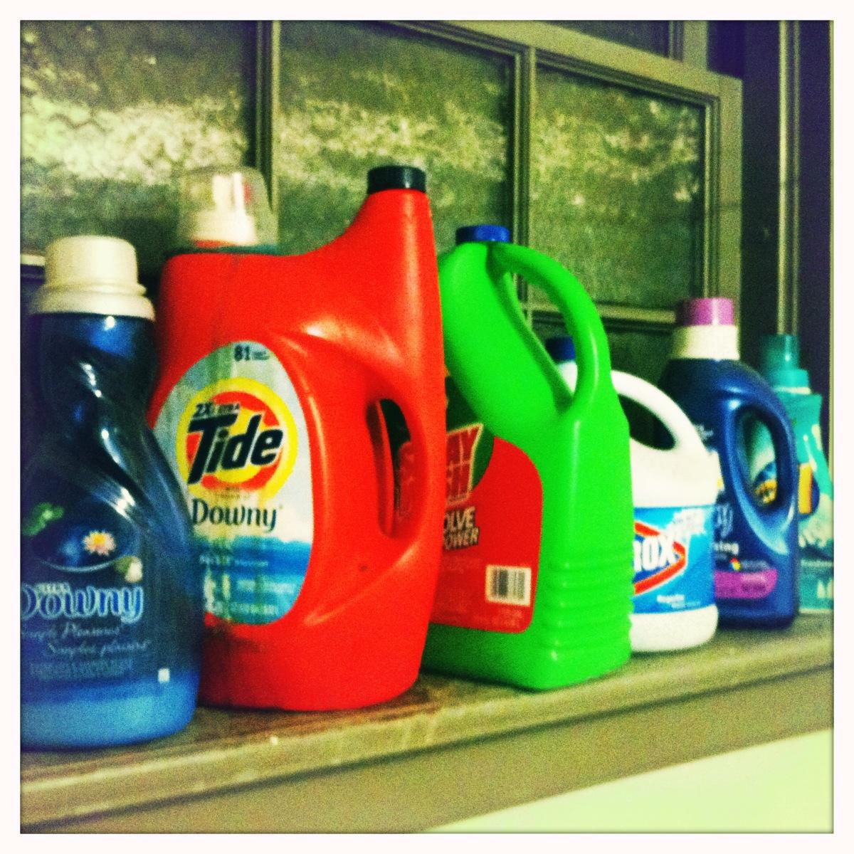 A sampling of detergents ...