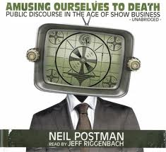 amusing ourselves to death technology Neil postman's amusing ourselves to death, first published in 1985,  telegraph  (and subsequent technologies) made it possible for them to.