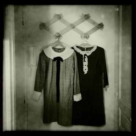 my dresses hanging out in Paris